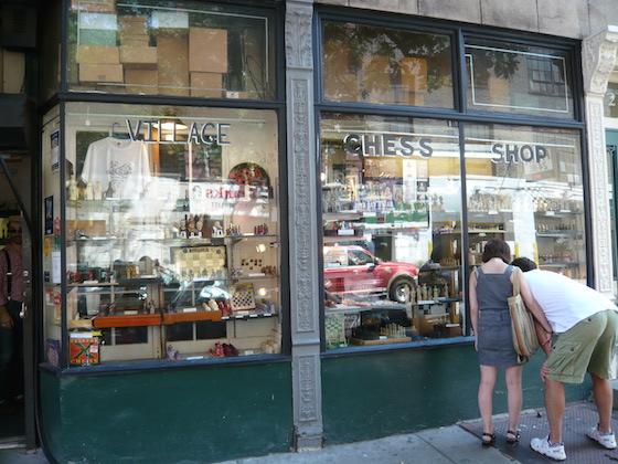 Der Village Chess Shop liegt gleich um die Ecke ...