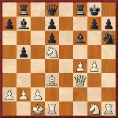Stellung nach 18.hxg4